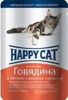 Happy Cat Pouches для кошек Говядина и печень (Германия)