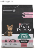 PRO PLAN Puppy Sensitive Skin OPTIDERMA с лососем и рисом