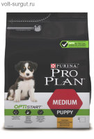 PRO PLAN Medium Puppy OPTISTART с курицей