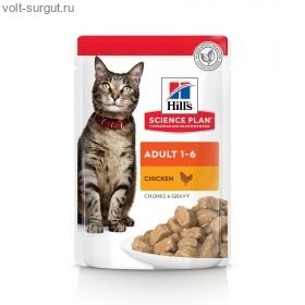 Hills Pouches cat с курицей